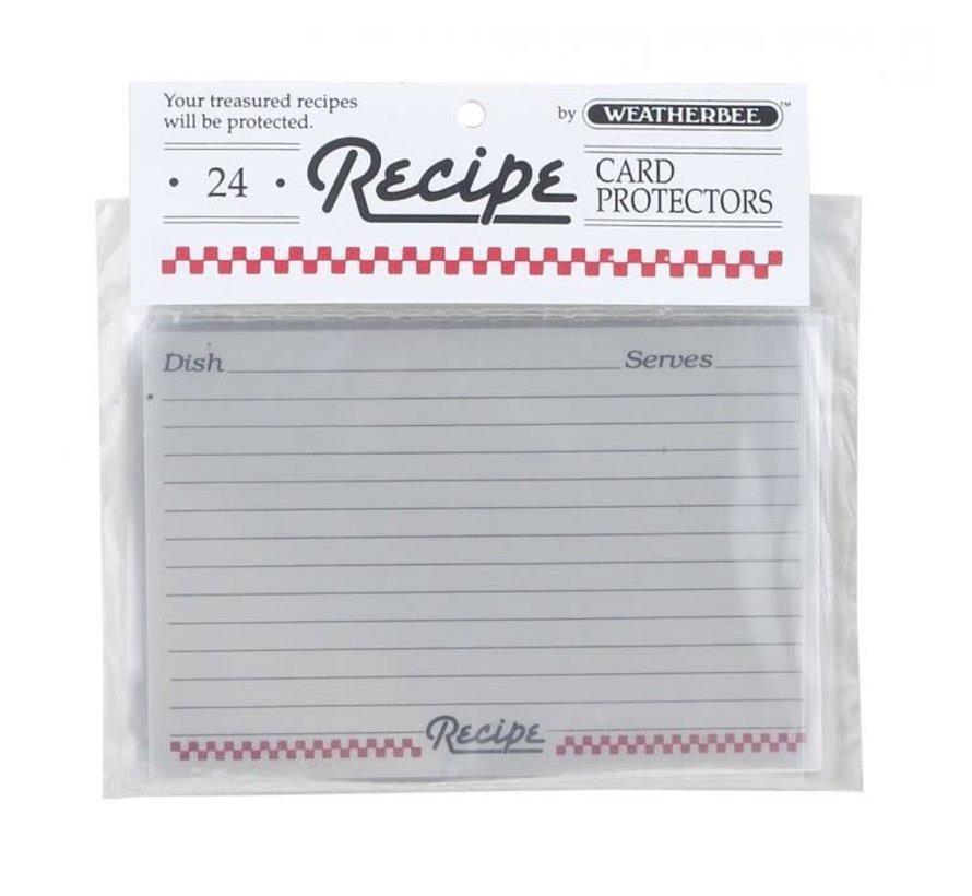 """Recipe Card Protectors 4"""" X 6"""""""