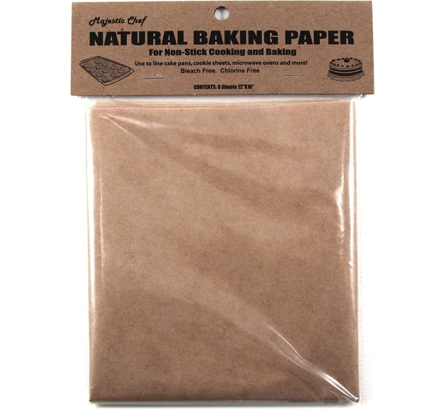 "Natural Baking Paper 12 x 16"" - 6 pc"