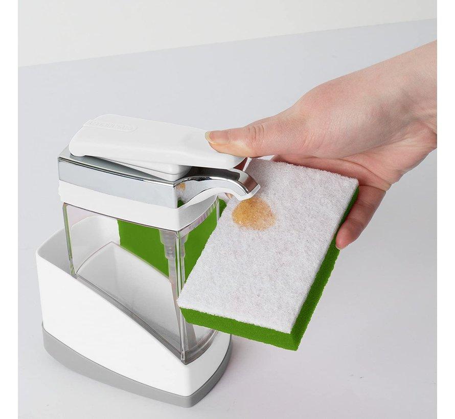 Sink Sider Solo w/Sponge - White/Chrome Plating