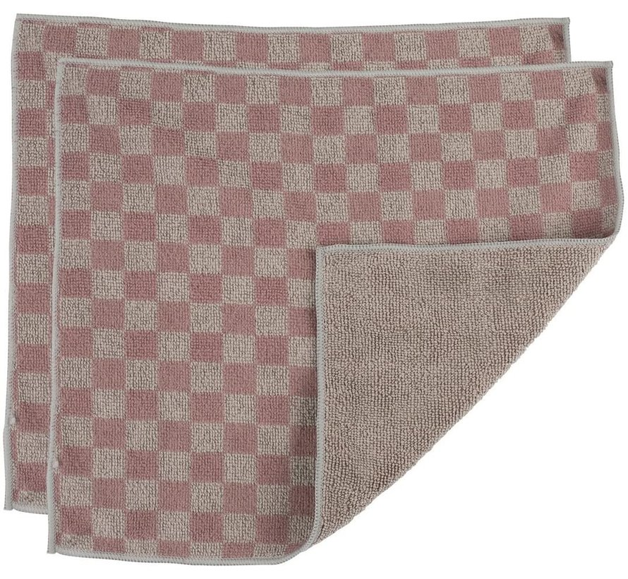 Microfiber Stainless Steel Cloth - Two-Tone Grey 2 pk