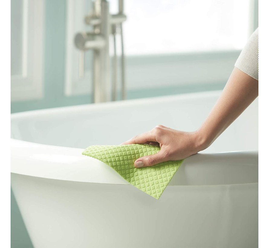 Large Cellulose Sponge Cloths - Lime, Orange 3pk Asst.