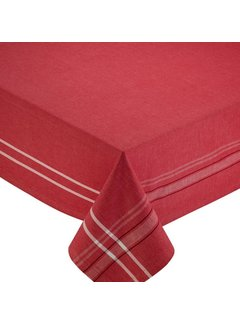 "DII Red French Chambray Table Cloth 60"" x 104"""
