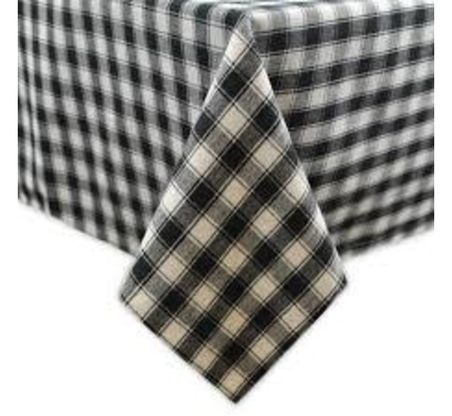 "French Check Tablecloth 52"" x 52"""
