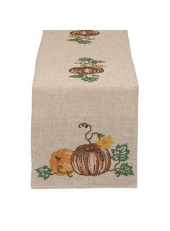 DII Pumpkin Embroidered Table Runner