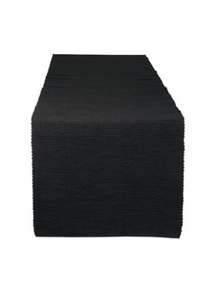 DII Black Ribbed Table Runner