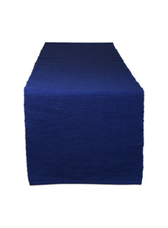 DII Nautical Blue Ribbed Table Runner
