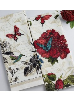 DII Botanical Flower Towel 2 pc Set