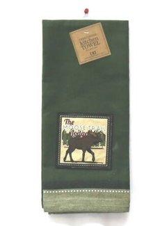 DII Moose Trail Embellished Dishtowel