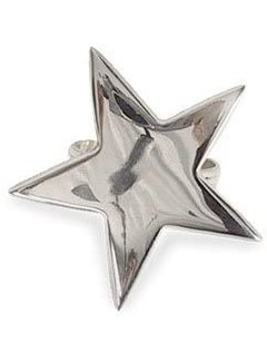 DII 5 Point Silver Star Napkin Ring