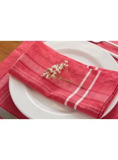 DII Red French Chambray Napkin