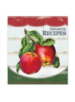 Brownlow Gifts Vintage Apples Recipe Binder, 4x6