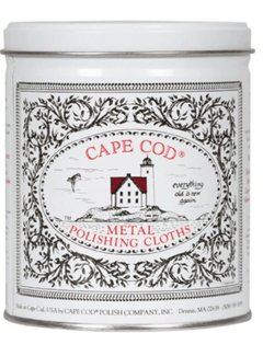 Cape Cod Polish Company Polishing Cloths 12 Cloth Tin