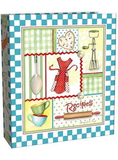 Brownlow Gifts Retro Aprons Recipe Binder, 4x6