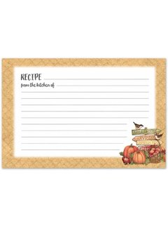 Brownlow Gifts Autumn Recipe Cards
