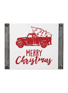 Brownlow Gifts Merry Christmas Truck Sign
