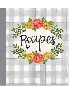Brownlow Gifts Floral Kitchen Recipe Binder