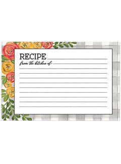 Brownlow Gifts Floral Recipe Cards