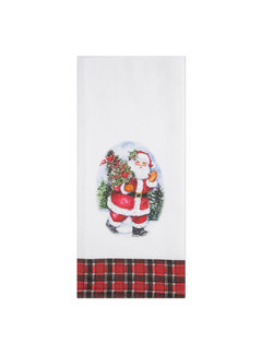 Brownlow Gifts Santa Claus Tea Towel