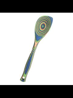 Island Bamboo Peacock Pakka Corner Spoon