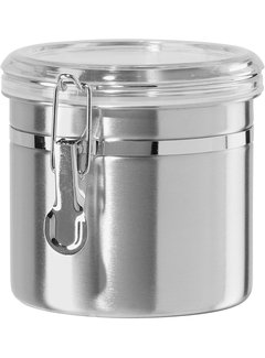 Oggi Clamp Canister, Stainless Steel W/Clear Acrylic Lid - 36 oz