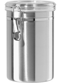 Oggi Clamp Canister, Stainless Steel W/Clear Acrylic Lid - 62OZ