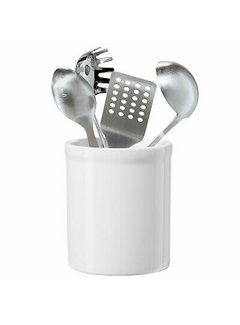 "Oggi Ceramic Utensil Holder 7"" High - White"