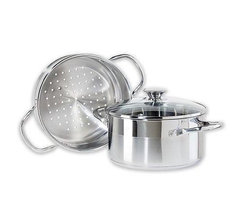 Oggi Professional Vegetable Steamer Stainless Steel Spoons N Spice