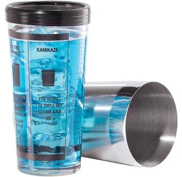 Oggi Glass & Stainless Steel Pro Recipe Shaker, 2 Piece