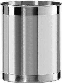 "Oggi Utensil Holder, Stainless Steel 6.5"" High"
