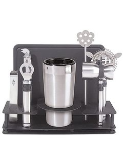Oggi Bar Set W/Stand, 10 Piece