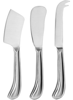 Oggi Cheese Knives, Stainless Steel Set of 3