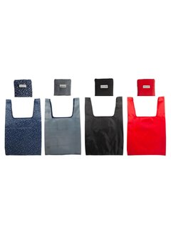 Port-Style Reusable Shopping Bag W/Attached Pouch