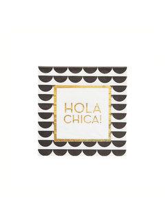 Hola Chica Coasters - Set of 6