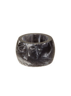 Black Carrara Napkin Ring