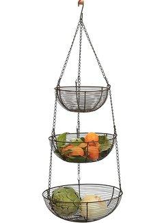 RSVP Endurance® 3-Tier Hanging Baskets, Bronze Wire