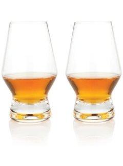 Viski Raye Crystal Scotch Glasses (Set of 2)