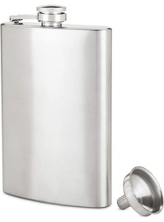 True 8 oz Stainless Steel Flask