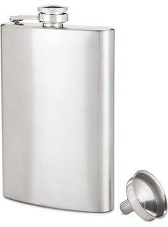 True Brands 8 oz Stainless Steel Flask
