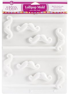 LorAnn Mustache Lollipop Sheet Mold