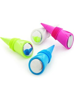 True Brands Cone Silicone Bottle Stoppers