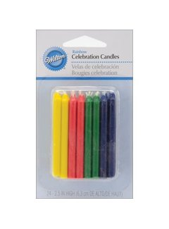 Wilton Celebration Round Candle - Rainbow