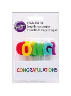 Wilton Candle Pick Congrats 15ct