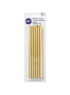 Wilton Birthday Candles - Tall Gold