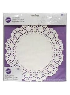 "Wilton 10"" Grease Proof Doilies - White"