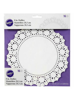 "Wilton 8"" Grease Proof Doilies -White"
