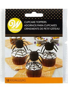 Wilton Honeycomb Cupcake Topper - Spider 12ct