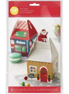 Wilton Treat Box House With Window - 4 Count