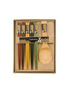 Fuji Chopsticks & Rice Paddle Gift Set, 5 Pairs