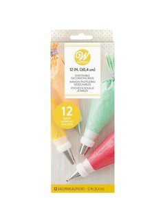 "Wilton 12"" Disposable Decorating/Piping Bags 12ct"