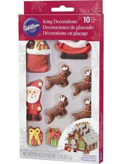 Wilton Santa Gingerbread Scene - Royal Icing